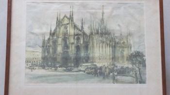 铜板丝网印刷画米兰大教堂-中国收藏网