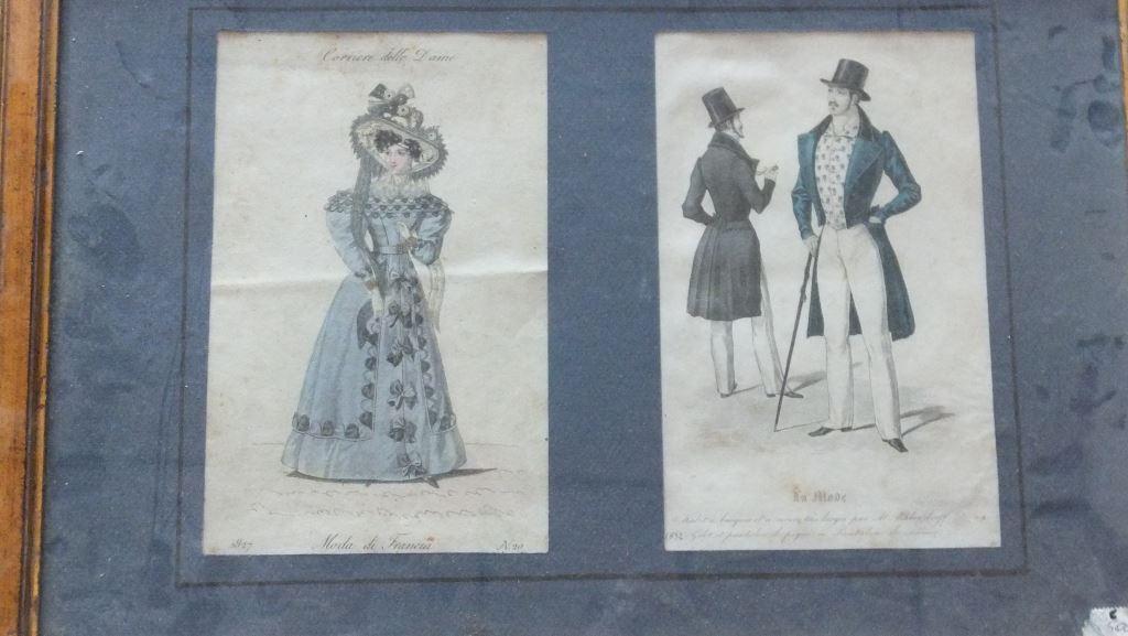 19世纪法国服装设计画