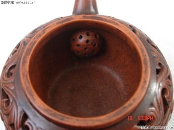 艳盛款双层楼空紫砂壶-中国收藏网