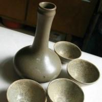 青瓷酒具一套 -收藏网