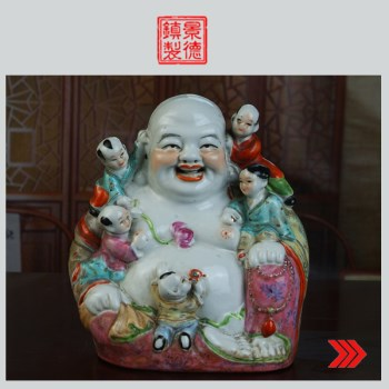 景德镇陶瓷/文革瓷器/厂货瓷器/收藏/五子罗汉(开心吉祥)-收藏网
