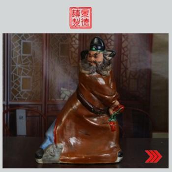景德镇陶瓷/文革瓷器/厂货/收藏/古瓷器/曾山东作品《钟馗》-收藏网