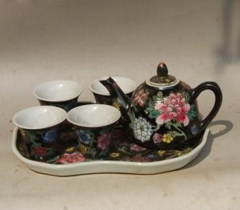 黑利万花6头小茶具一套 -收藏网