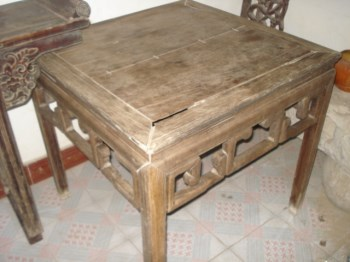 花梨木方桌-收藏网