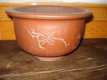 文革紫砂花盆,石陶款-中国收藏网