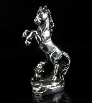 民间收藏精品 一元拍 全白铜精工打造 策马奔腾 摆件-收藏网