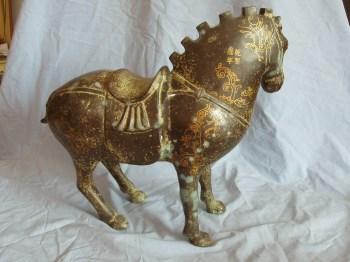 清代青铜马-收藏网