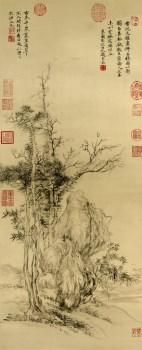 清 恽寿平 古木幽葟图  高仿-收藏网