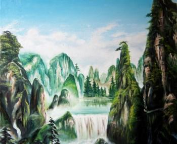 野山谷的景色-收藏网