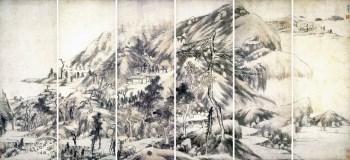 山水通景屏--清--朱耷  高仿-收藏网