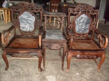 双狮戏球太师椅-收藏网