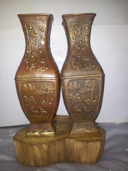铜花瓶摆件 -收藏网