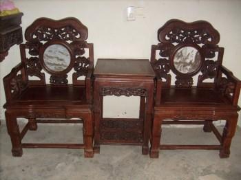 红木灵芝卷头太师椅-收藏网