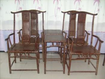 红木竹节官帽椅-收藏网