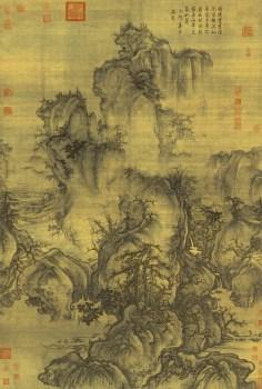 高仿 北宋-郭熙-早春图--绢本158.3x108-收藏网