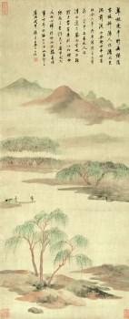 清-查士标山水图-收藏网
