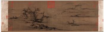 北宋-郭熙-树色平远图-绢本32x100-收藏网