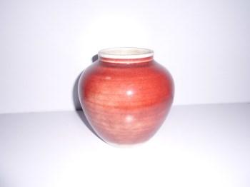 清晚期民窑红釉小罐-收藏网