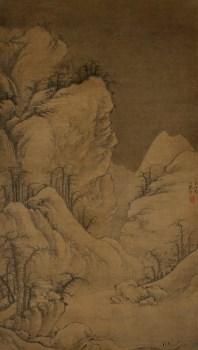 元-曹知白雪山图72x127.jpg-收藏网