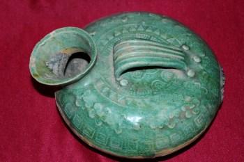 老汉绿釉夜壶 -收藏网