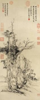 高防 清 恽寿平 古木幽葟图 -收藏网