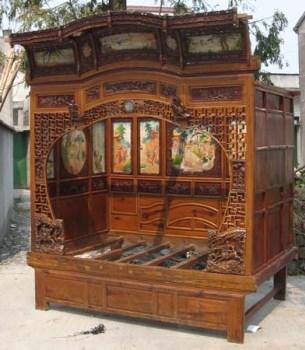 民国时期古董千工雕花床-收藏网