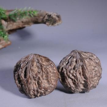 越南沉香木核桃键身球古玩木雕手把件沉香益脑保健一对-收藏网