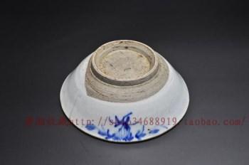 民国青花洋蓝粗碗大 摆件3号(直径120MM 高度43MM)-收藏网