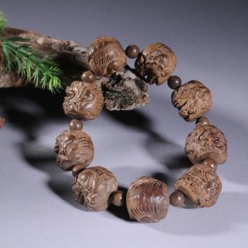 越南沉香 保真 手工雕刻木雕貔貅手链手串 招财 送领导礼物-收藏网