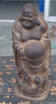 越南沉香木 三子弥勒佛大肚弥勒 摆件 弥勒佛像 求子供奉佛像木雕30cm-收藏网
