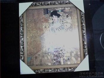 世界名画《贵妇人》瓷板画-中国收藏网