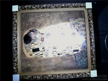 世界名画《吻》瓷板画-收藏网