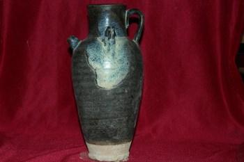双耳点釉提壶-中国收藏网