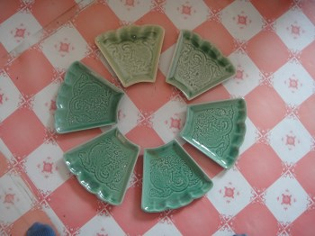 龙纹青瓷盘-收藏网