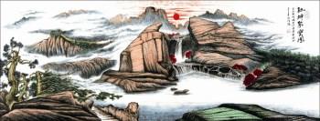 余作赋亲创《福寿聚气风水运势国画》-中国收藏网