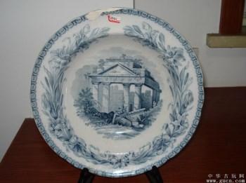 英国贵族用Copelandspode底款大盘子一只-中国收藏网