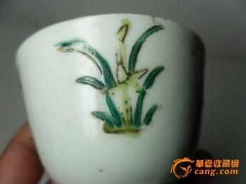 清晚期(金炳盛祥款)春夏秋冬四季花粉彩杯 -中国收藏网