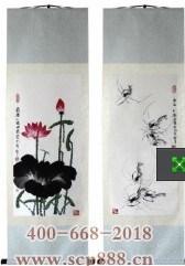 白石嫡传荷虾真迹-收藏网