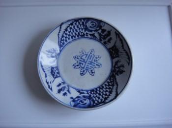 青花双鱼盘-中国收藏网