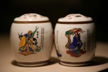 蛐蛐罐一对 居仁堂款 彩瓷八仙子图 (清末民国初)-中国收藏网