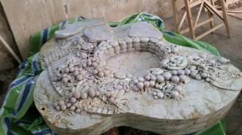 大型翡翠镂空雕刻茶台——富贵吉祥-中国收藏网