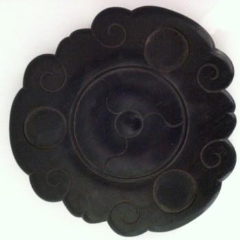 清代红木香炉拖-收藏网
