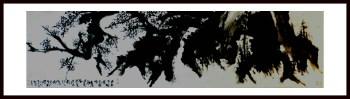六尺《千年古梅》-中国收藏网