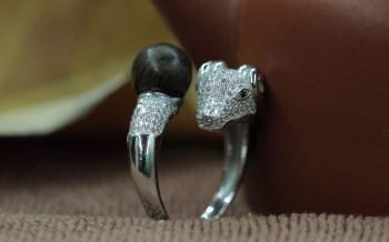 【香缘木艺】羊年羊咩咩 纯银女款=加里曼丹沉香=单珠9mm戒指-收藏网