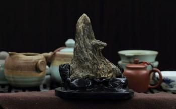 【香缘木艺】收藏级百年老香-海南野生沉香=尖峰黑油摆件-收藏网