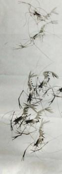 齐派水墨虾-收藏网
