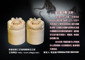 天然猛犸牙制牙雕龙章-收藏网