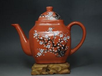 民国粉彩梅花纹壶-中国收藏网