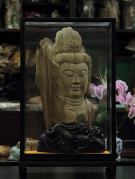 【香缘木艺】精致瑰宝-加里曼丹沉香慈祥观音头雕刻摆件-收藏网
