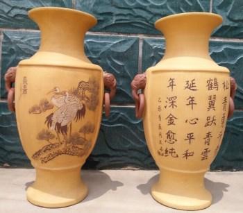 正品宜兴紫砂花瓶-收藏网